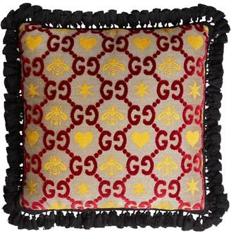 Gucci GG jacquard square cushion