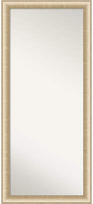 "Amanti Art Elegant Brushed Honey Framed Floor/Leaner Full Length Mirror, 28.75"" x 64.75"""