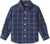 Joe Fresh Toddler Boys' Plaid Button Down Shirt, Bright Blue (Size 3)