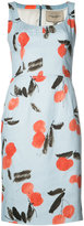 Carolina Herrera cherry print sleeveless dress - women - Cotton/Spandex/Elastane - 10
