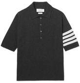 Thom Browne Slim-fit Striped Cashmere Polo Shirt