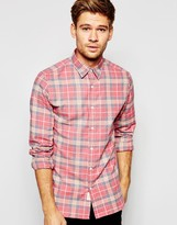 Selected Brushed Check Shirt in Slim Fit