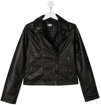 Karl Lagerfeld Paris TEEN faux-leather biker jacket