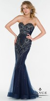 Alyce Paris Fully Beaded Regal Sweetheart Column Evening Dress
