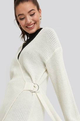 NA-KD Buckle Detail Knitted Cardigan