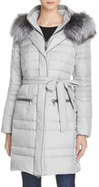 Maximilian Furs Fox Fur Trim Hooded Down Coat