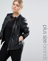 Junarose Leather Look Biker Jacket