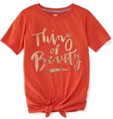 Old Navy Tie-Hem Graphic Tee for Girls
