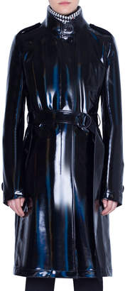 Akris Punto Lacquered Wool Trench Coat