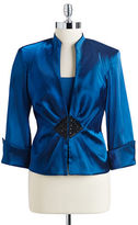 Xscape Evenings Two Piece Beaded Jacket and Shell