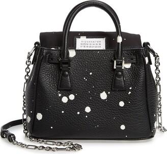 Maison Margiela Mini 5AC Flap Splatter Leather Shoulder Bag