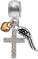 Individuality Beads Sterling Silver Angel Wing, Cross & Heart Charm