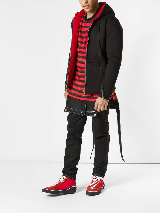 Givenchy Destroyed striped t-shirt