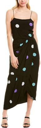 Derek Lam 10 Crosby Sarong Silk-Blend Maxi Dress