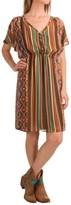 Stetson Aztec Serape Printed Chiffon Dress - Short Sleeve (For Women)