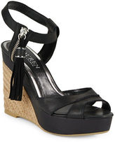 Lauren Ralph Lauren Gwen Espadrille Wedge Leather Sandals