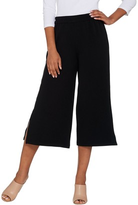 Joan Rivers Classics Collection Joan Rivers Regular Length Textured Knit Pull-on Gaucho Pants
