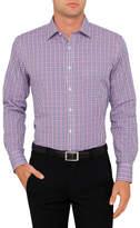 Van Heusen Mauve Check Slim Fit Shirt