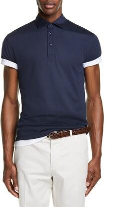 Brunello Cucinelli Silk & Cotton Polo Shirt
