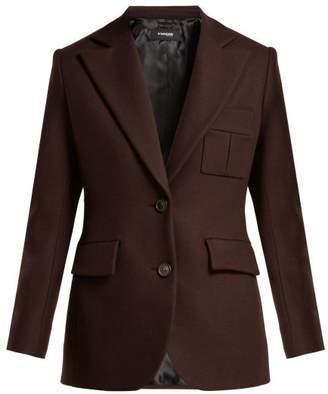 Kwaidan Editions Single-breasted Wool Blazer - Womens - Dark Brown