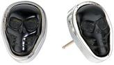 King Baby Studio Obsidian Skull Stud Earrings Earring