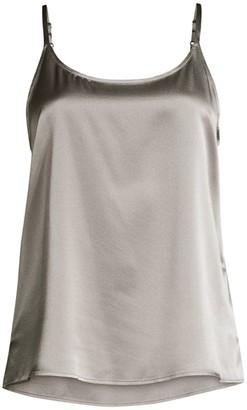 Eileen Fisher Scoopneck Silk-Blend Camisole