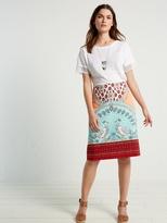 White Stuff Porto print woven skirt