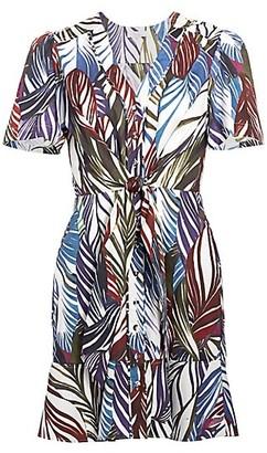 Parker Sheila Feather-Print Dress