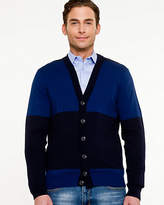 Le Château Cotton Bold Stripe Cardigan
