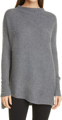 Nordstrom Signature Asymmetrical Cashmere Tunic Sweater