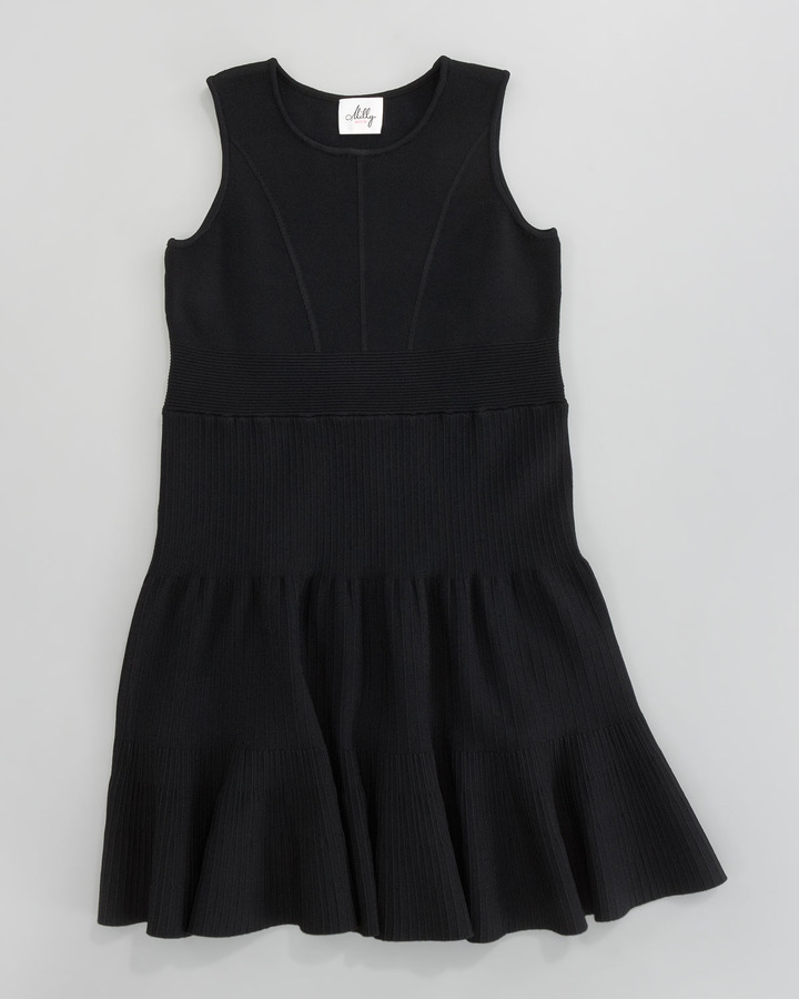 Milly Minis Kirsten Fit-and-Flare Knit Dress