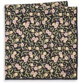 hook + ALBERT Floral Cotton Pocket Square