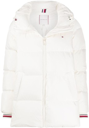 Tommy Hilfiger Contrast Cuff Puffer Jacket