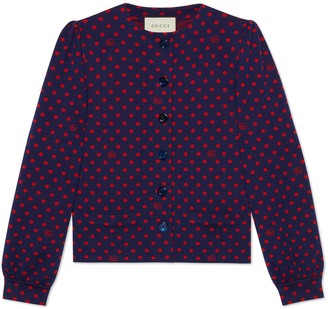 Gucci Polka dot and Double G wool cardigan