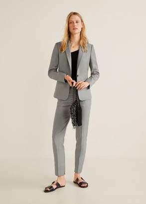 MANGO Essential structured blazer grey - 4 - Women