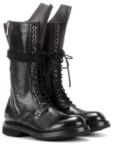 Rick Owens Leather Combat Boots