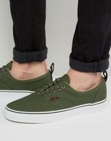 Vans Era Pt Leather Plimsolls In Green Va2xrzjsr