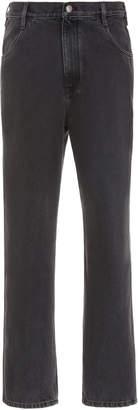 Simon Miller Black High-Rise Straight-Leg Jeans