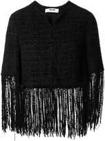 MSGM fringe tweed jacket