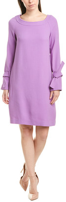 Lela Rose Wool-Blend Shift Dress
