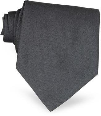 Forzieri Ponte Vecchio Old Bridge Dark Gray Woven Silk Tie
