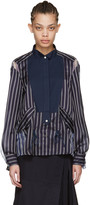 Sacai Navy Striped Shirt