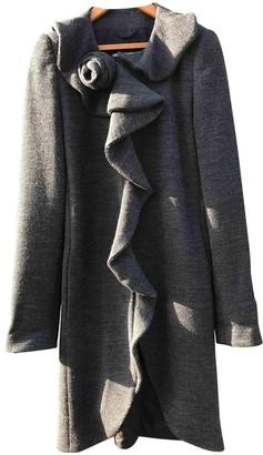 Emporio Armani Anthracite Wool Coat for Women