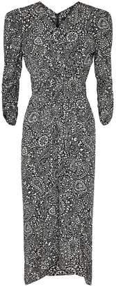 Isabel Marant Albi Printed Silk Midi Dress