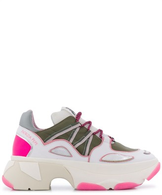 Patrizia Pepe Oversized-Sole Panelled Sneakers