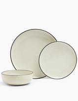 Marks and Spencer 12 Piece Tribeca Rimmed Stoneware Dinner Set