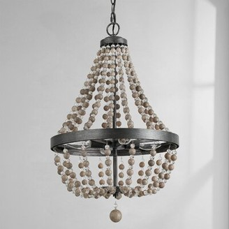 Dakota Fields 4 - Light Unique Empire Chandelier with Beaded Accents