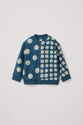 Cos Dot-Print Bomber Jacket