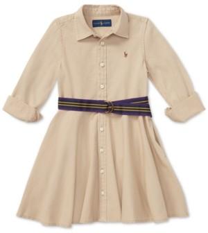 Polo Ralph Lauren Little Girls Chino Cotton Shirtdress