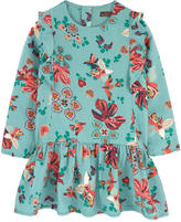 Catimini Printed dress with flounces